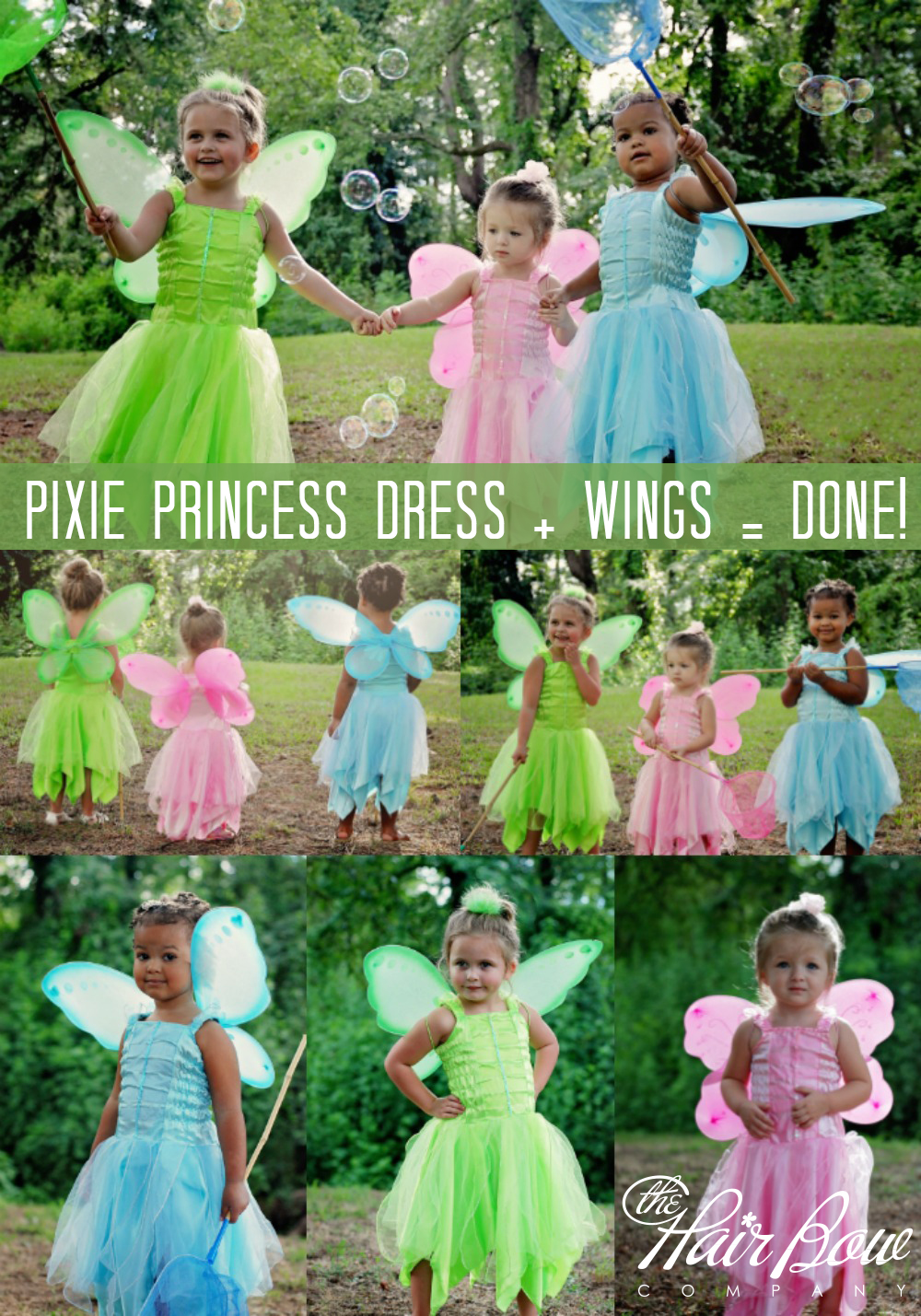 Shop Fairy Wings and Costume Supplies at The Hair Bow Company  sc 1 st  The Hair Bow Company & Easy Fairy Costumes | Two Items for an Instant Costume! - The Hair ...