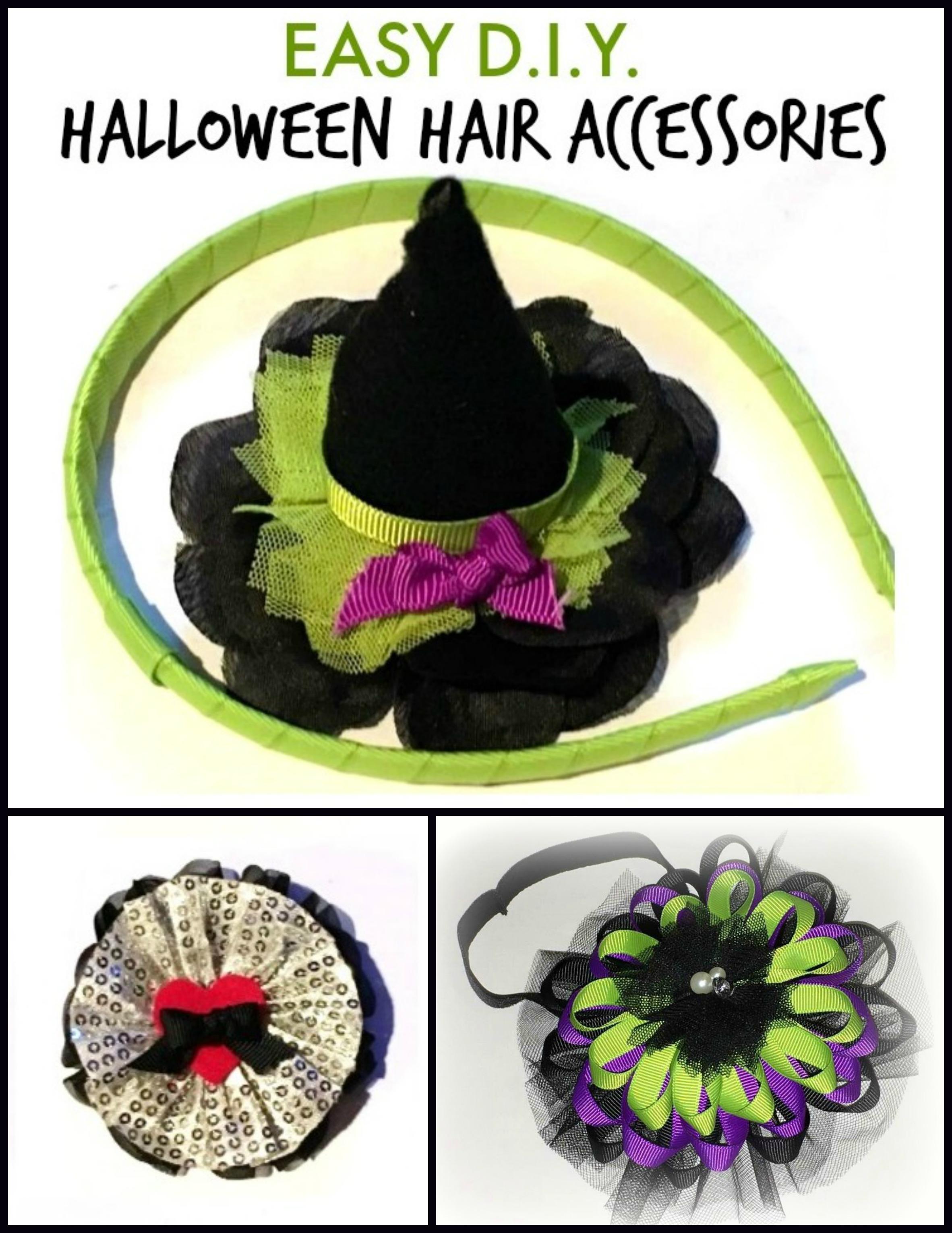 halloween hair accessories | 3 easy crafting tutorialsthe hair