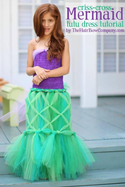 diy mermaid tutu dress  sc 1 st  The Hair Bow Company & Mermaid Tutu Dress - The Hair Bow Company