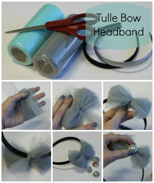 diy tulle bow headband