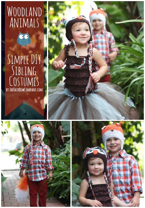 Woodland Animals Simple Sibling Costumes The Hair Bow