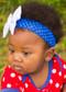 "Royal Blue 1.5"" Crochet Headband"