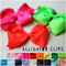 Neon pink, neon green, & neon orange bows