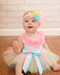 Pastel rainbow tutu for girls up to 4 years.