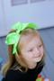 Neon Green Cheer Bow