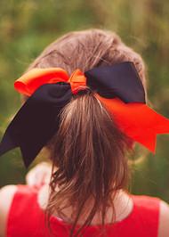 Two Tone School Color Cheer Bows