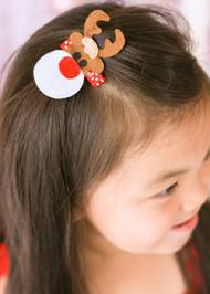 Christmas Felt Reindeer Clippie