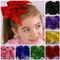Sequin Cheer Hair Bows