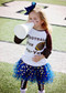 Gold Dot Tutu in Navy
