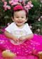 Gold Polka Dot Baby Tutu in Hot Pink