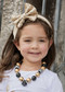 Champagne Solid Sequin Bow Headband