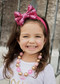 Hot Pink Solid Sequin Bow Headband