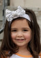 White Solid Sequin Bow Headband