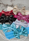 Solid Sequin Bow Headbands for girls.