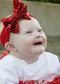 Red Solid Sequin Bow Headband
