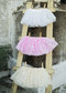 Lace Baby Tutu in Pink, White, and Ivory, for babies and toddler girls up to 2t.