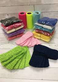 "2.75"" Crochet Headbands - Single Color - Pack of 6"