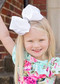 Over sized Rhinestone centered fancy hair bows for girls.