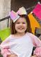 "7"" Texas Size Rainbow Hair Bows for girls in Pastel Rainbow."