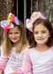 "7"" Texas Size Rainbow Hair Bows for girls."