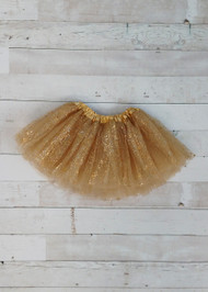 Gold sparkle baby tutu.