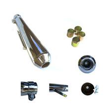 Shorty Silencer / Muffler, Universal, Reverse Cone, Short, BSA, Norton, Triumph Motorcycles, Emgo 80-84030