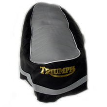 Seat Cover, Black or Grey Top, 1967 Triumph Motorcycles, 82-7489, 82-7777, T203