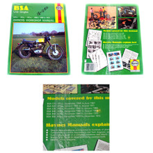 Haynes Owners Workshop Manual, BSA 58-72 247cc, 343cc, 441cc, 499cc Motorcycles, 18-050