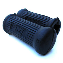 Foot Rest Rubber Set, Short, Rear, for Folding Foot Rest, BSA Motorcycles, 82-9608