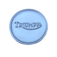 Tank Top Badge, Clear/Silver, Triumph Logo, 83-4776