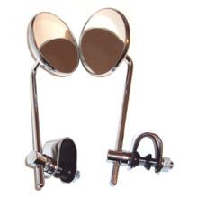 3 Inch Mirror Set, 6 Inch Stems, 7/8 Inch Bar, BSA, Norton, Triumph Motorcycle, Emgo 20-06186