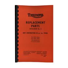 Triumph Parts Books for years1960-1972 Triumph 650cc Models 18-650/
