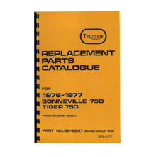 Triumph Parts Books for years 1973-1982 Triumph 750cc Motorcycles, 18-750/