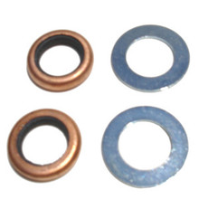 Petcock Washer/Seal Set, Copper/Rubber, BSA, Norton, Triumph Motorcycles, 70-7351 83-0002