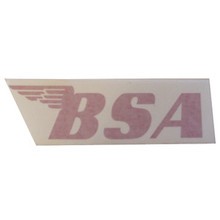 BSA Sticker, Red, BSA Motorcycles, 24-BSAR