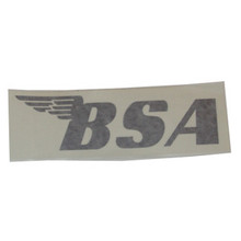BSA Sticker, Black, BSA Motorcycles, 24-BSAB