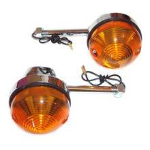 Turn Signal Set, 80mm Stem, BSA, Norton, Triumph Motorcycles, 56605, 60-4105, Emgo 60-19720