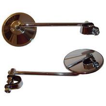 """Mirror Set, 4"""" Mirrors, 8"""" Stem, BSA, Norton, Triumph, Emgo 20-06808"""