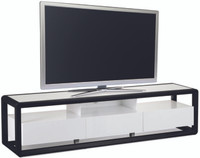 FLORENCE Entertainment Unit 2 Metres Black Oak and White Gloss