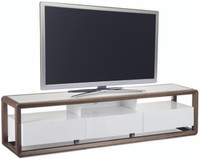 FLORENCE Entertainment Unit 2 Metres Walnut and White Gloss