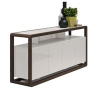 FLORENCE Sideboard 1.8 Metres Walnut and White Gloss
