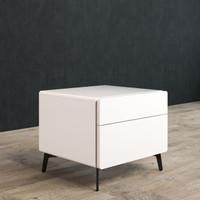 BRANDO Bedside Unit 50cm White Gloss