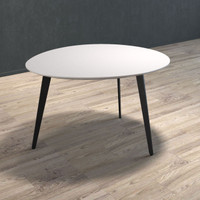 BRANDO Side Table with Black Legs