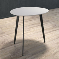 BRANDO Lamp Table with Black Legs