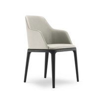CHLOE Dining Chair / Black Stained Legs