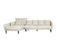 TORONTO 2 Seater Sofa & Chaise Left  (CREAM WITH MUSHROOM FLECK_Heavy Weave)