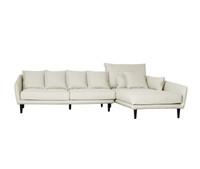 TORONTO 2 Seater Sofa & Chaise Right (CREAM WITH MUSHROOM FLECK_Heavy Weave)