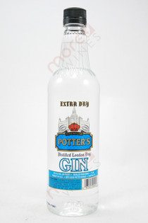 Potter's Extra Dry Gin 750ml