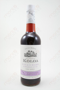 Koloa Dark Hawaiian Rum 750ml