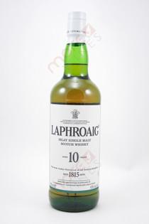 Laphroaig 10 Year Old Whiskey 750ml